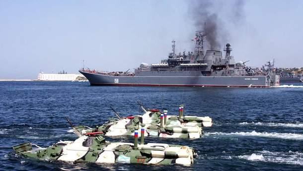 Россия проведет масштабные военные учения в Средиземном море