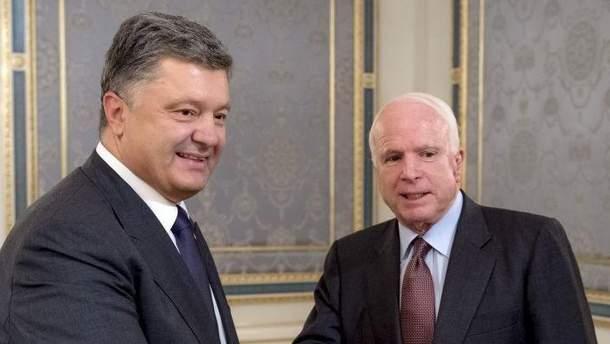 Порошенко и Маккейн