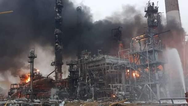 Взрыв на нефтеперерабатывающем заводе в Баварии
