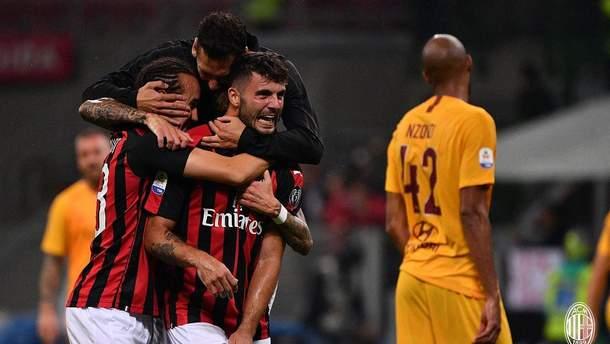 Милан победил Рому благодаря голу Кутроне