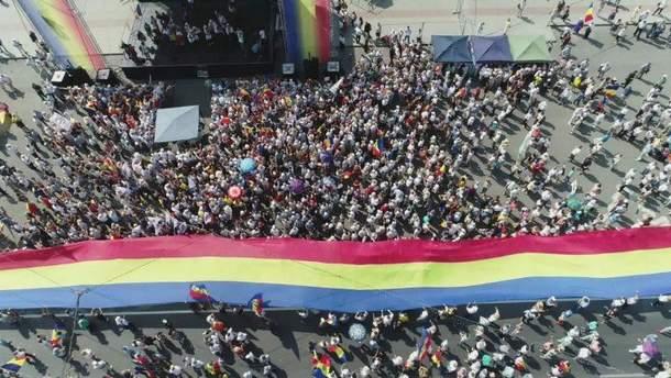 Мирный митинг за объединение Молдовы с Румынией