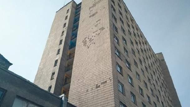 В этом общежитии КПИ произошел несчастный случай