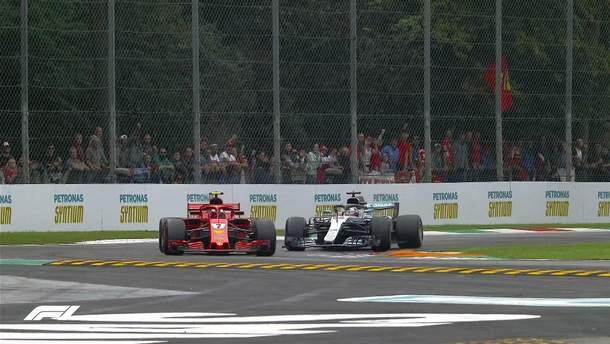 Формула-1: Хемілтон виграв гран-прі Італії після зіткнення з Феттелем