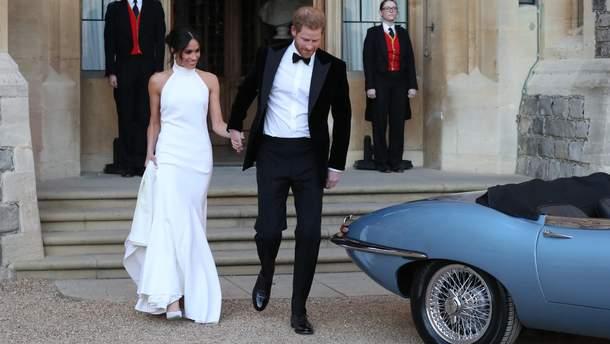 Меган Маркл и принц Гарри отправляются на свадебный прием