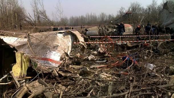 Представители Польши начали в России  осмотр обломков самолета Качиньского