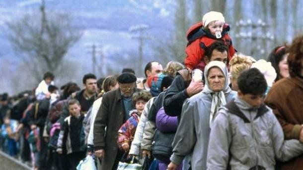 В Украине зарегистрировано почти 1,52 миллоина внутренних переселенцев