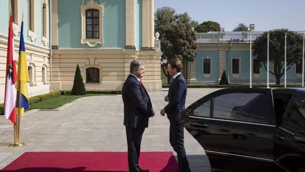 Петро Порошенко і Себастьян Курц