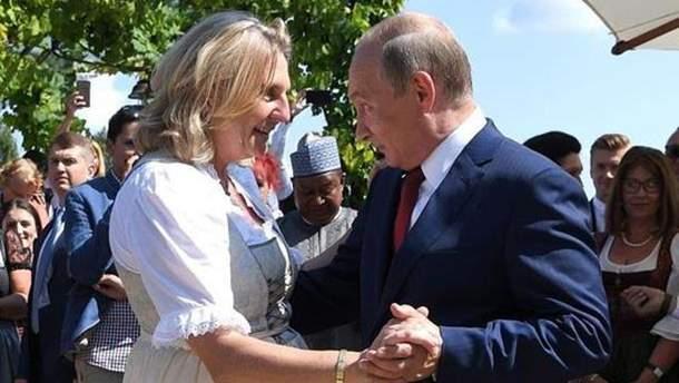 Запрошення Путіна на весілля глави МЗС Австрії вплинуло на відносини Києва і Відня