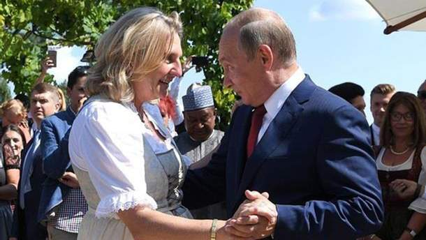 Приглашение Путина на свадьбу главы МИД Австрии повлияло на отношения Киева и Вены