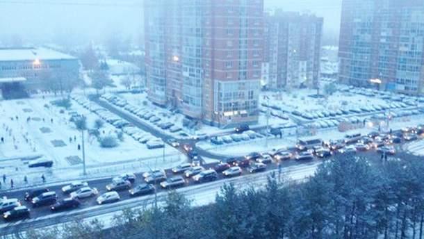 В России в сентябре выпал снег