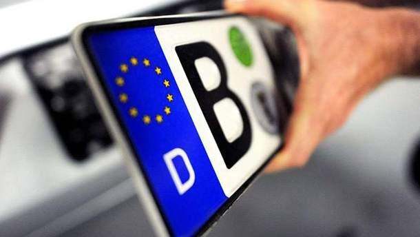 Авто на еврономерах в Украине