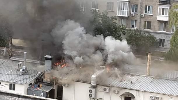 В Києві спалахнула пожежа в ресторані