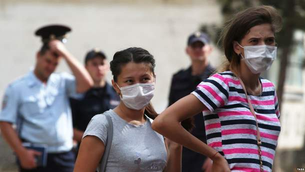 На Херсонщине пострадали дети из-за химических выбросов в Крыму