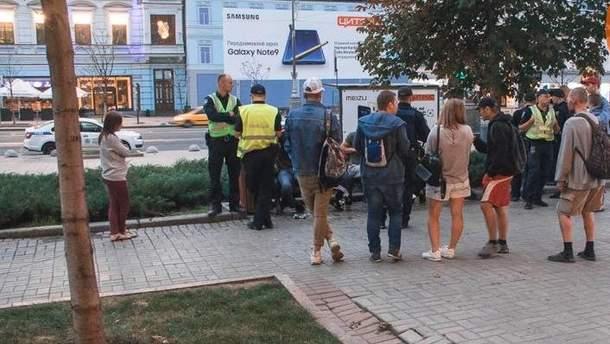 В центре Киева напали на представителей ЛГБТ