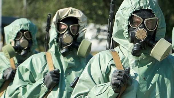 Бойовики на Донбасі тренуються у засобах хімічного захисту