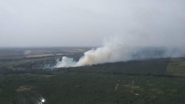 Вертолет, задействованный в тушении лесного пожара, упал на Харьковщине