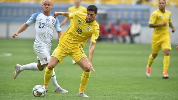 Україна – Словаччина відео голу матчу Ліга націй 9 вересня