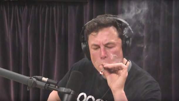 """Илон Маск """"затянулся"""" в прямом эфире"""