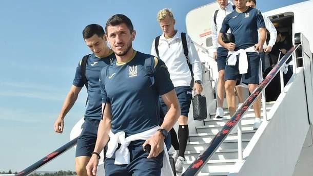 Сборная Украины прилетела во Львов на матч Лиги наций