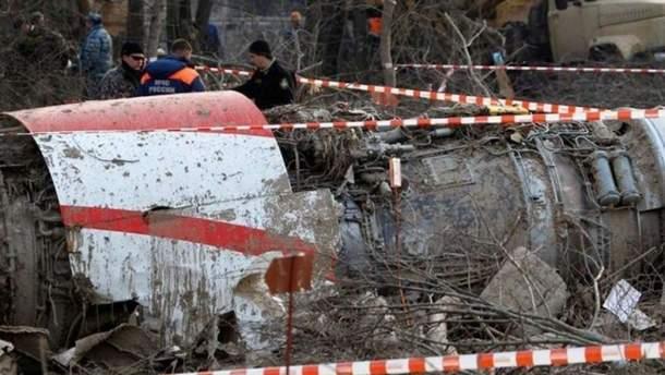 Польські слідчі завершили огляд уламків Ту-154М у Смоленську