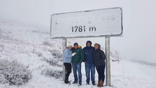 На Юге Африки выпал снег