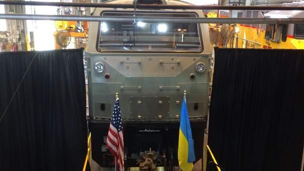 В государство Украину доставили 1-ый американский локомотив