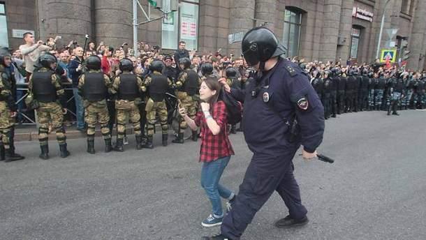 Разгон демонстрации 9 сентября в России