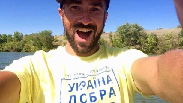 Антон Бондаренко проплив на сапборді із Києва в Одесу