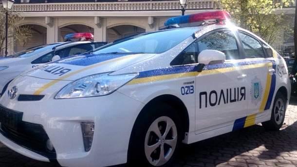 В Ивано-Франковске водитель протаранил машину полиции