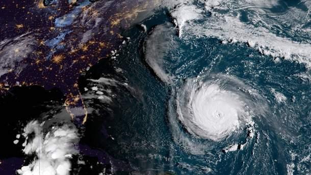 "Ураган ""Флоренс"" с космоса"