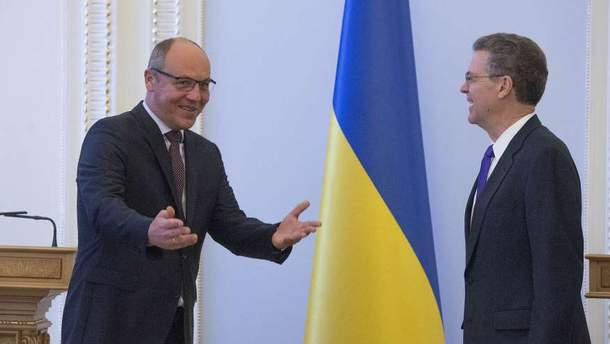 Андрій Парубій та Сем Браунбек