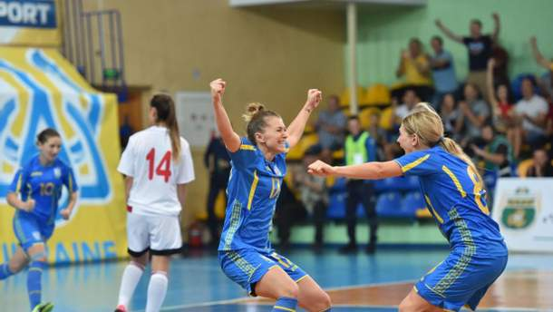 Женская сборная Украины по футзалу победила Беларусь