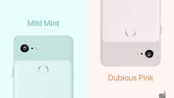 Google Pixel 3  может появиться в очень милых цветах