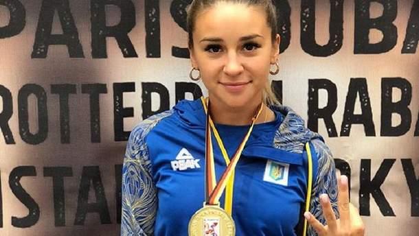 Анжелика Терлюга победила на этапе премьер-лиги по каратэ