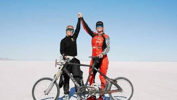 Денис Мюллер-Коренек побила рекорд скорости на велосипеде
