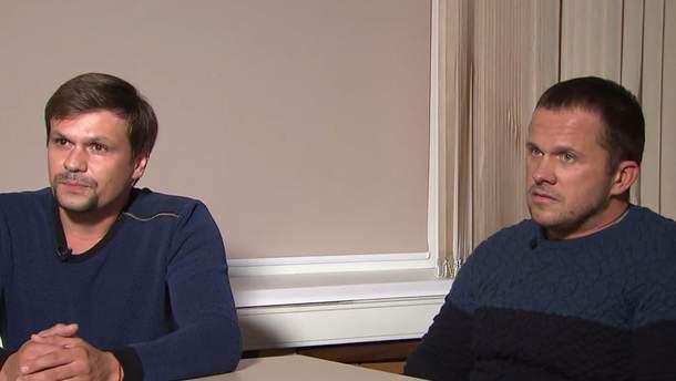 Інтерв'ю отруювачів Скрипалів на Кремль ТБ обурило Британію