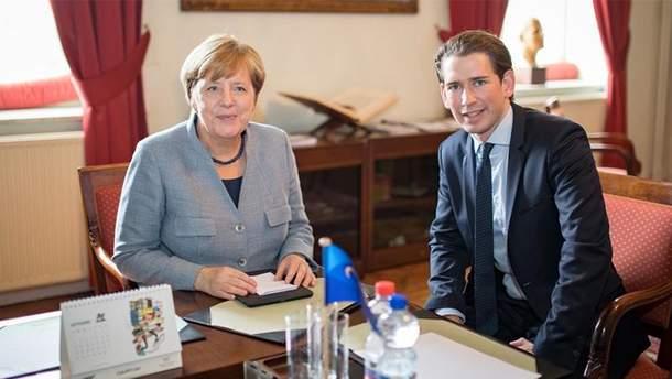 Себастіан Курц та Ангела Меркель