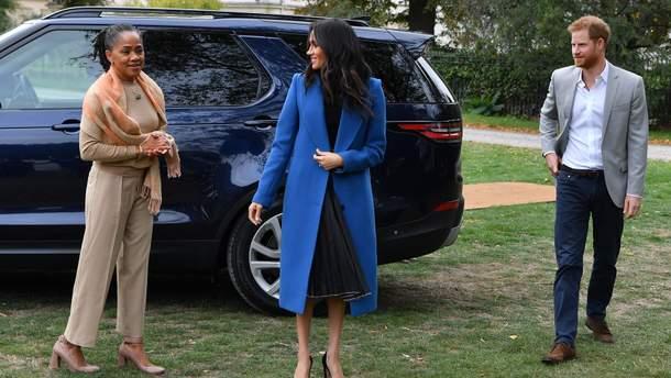 Меган Маркл з мамою і принцом Гаррі