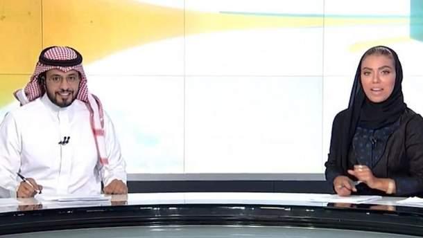 Женщина впервые стала ведущей на государственном телевидении в Саудовской Аравии