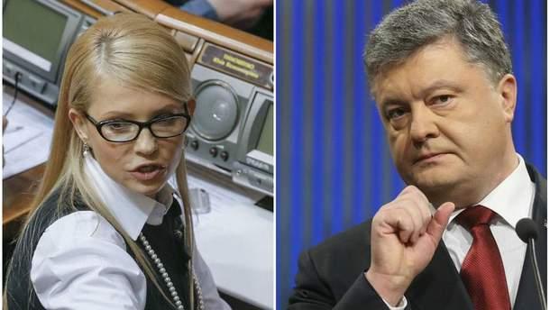 Соцдослідження показують стабільні рейтинги Тимошенко і Порошенка