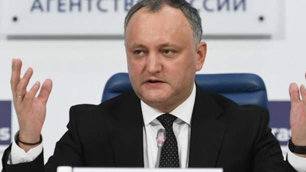 """Додон заявив, що Молдова """"не повторюватиме помилок України"""""""