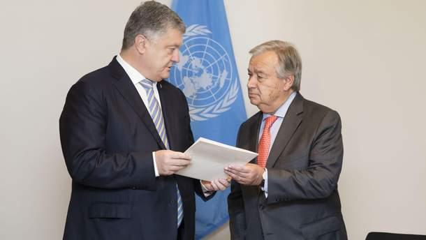 Порошенко и генсек ООН
