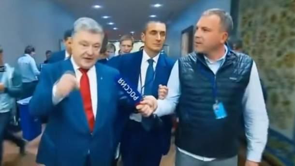 Порошенко не захотів спілкуватись з російським журналістом