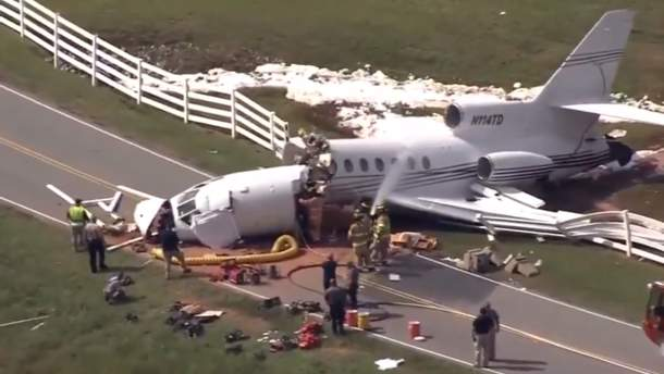 Катастрофа реактивного самолета в США
