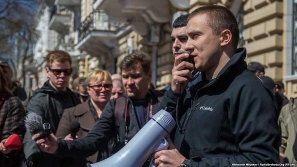 На одесского активиста Сергея Стерненко нападали трижды