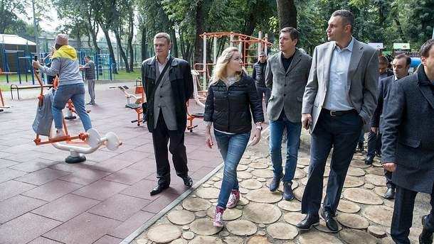 Виталий Кличко открыл обновленный Сырецкий парк
