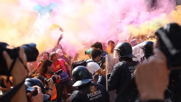 Столкновения в Барселоне