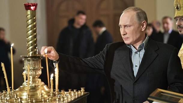 РосСМИ сообщают о набожности Путина