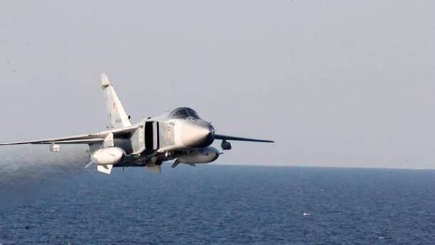 З'явилося відео вражаючого польоту Су-24