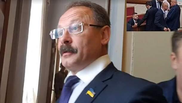 Олег Барна набросился на журналиста с нецензурной бранью